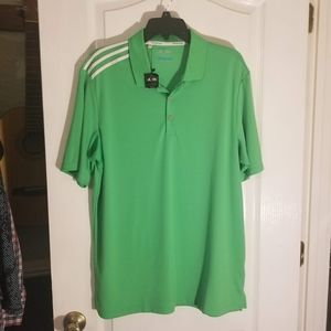 New adidas Climacool Green polo shirt men's large
